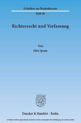 Richterrecht und Verfassung.