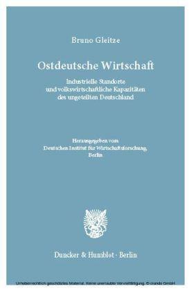 Ostdeutsche Wirtschaft.
