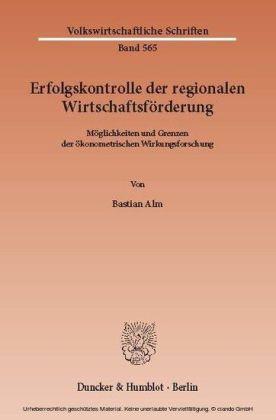 Erfolgskontrolle der regionalen Wirtschaftsförderung.