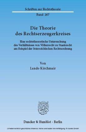 Die Theorie des Rechtserzeugerkreises.