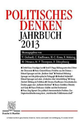 Politisches Denken. Jahrbuch 2013.