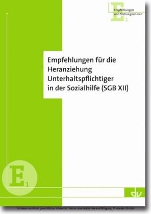 Empfehlungen für die Heranziehung Unterhaltspflichtiger in der Sozialhilfe (SGB XII)