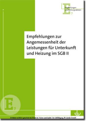 Empfehlungen zur Angemessenheit von Leistungen für Unterkunft und Heizung im SGB II