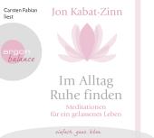 Im Alltag Ruhe finden, 1 Audio-CD Cover