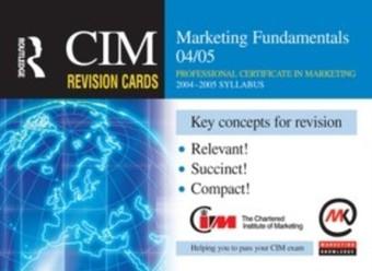CIM Revision Cards: Marketing Fundamentals 04/05