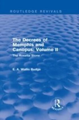 Decrees of Memphis and Canopus: Vol. II (Routledge Revivals)