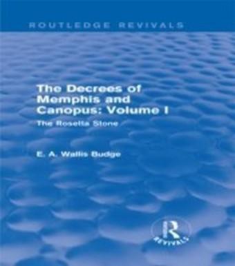 Decrees of Memphis and Canopus: Vol. I (Routledge Revivals)