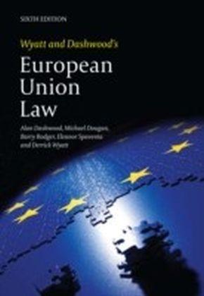 Wyatt and Dashwood's European Union Law