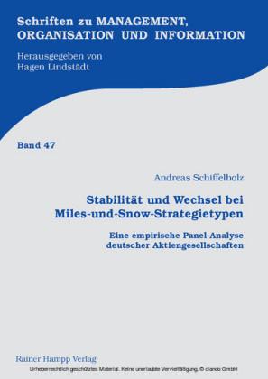 Stabilität und Wechsel bei Miles-und-Snow-Strategietypen