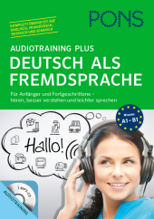 PONS Audiotraining Plus Deutsch als Fremdsprache, MP3-CD + Begleitbuch Cover