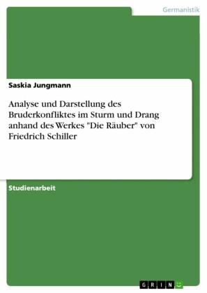 Analyse und Darstellung des Bruderkonfliktes im Sturm und Drang anhand des Werkes 'Die Räuber' von Friedrich Schiller