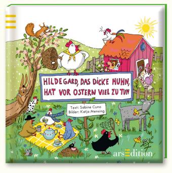 Hildegard, das dicke Huhn, hat vor Ostern viel zu tun