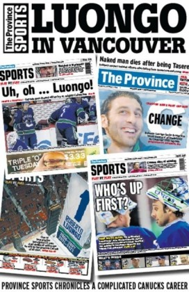 Luongo in Vancouver