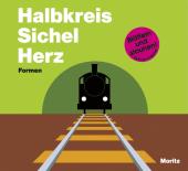 Halbkreis Sichel Herz. Formen. Cover