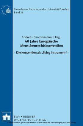 60 Jahre Europäische Menschenrechtskonvention