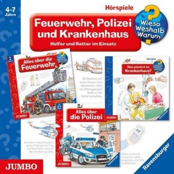 Feuerwehr, Polizei und Krankenhaus, 3 Audio-CDs