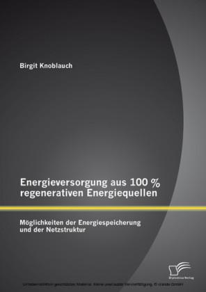 Energieversorgung aus 100 % regenerativen Energiequellen: Möglichkeiten der Energiespeicherung und der Netzstruktur