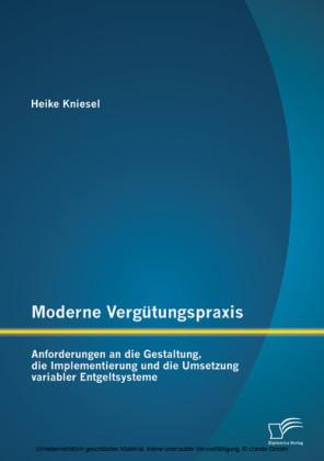 Moderne Vergütungspraxis: Anforderungen an die Gestaltung, die Implementierung und die Umsetzung variabler Entgeltsysteme