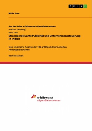 Strategierelevante Publizität und Unternehmenssteuerung in Indien