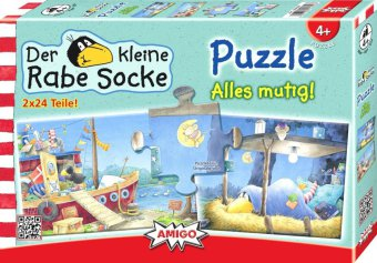 Kleiner Rabe Socke (Kinderpuzzle), Alles mutig!
