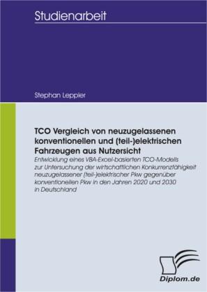 TCO Vergleich von neuzugelassenen konventionellen und (teil-)elektrischen Fahrzeugen aus Nutzersicht