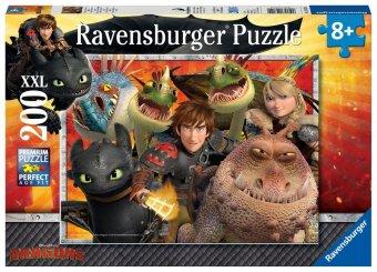Dragons, Hicks, Astrid und die Drachen (Kinderpuzzle)