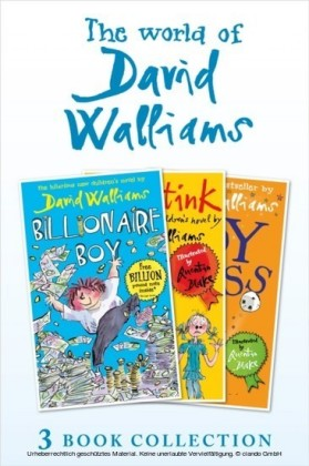 World of David Walliams 3 Book Collection (The Boy in the Dress, Mr Stink, Billionaire Boy)