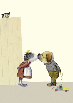 Kussversuch, 10 Postkarten