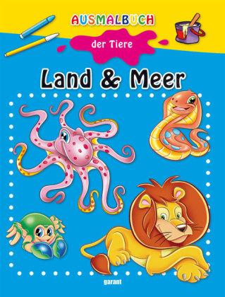 Ausmalbuch der Tiere - Land & Meer