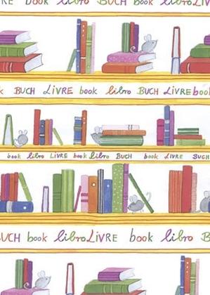 Geschenkpapier Leseratte, 25 Bogen (50 x 70 cm)