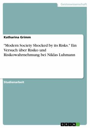 'Modern Society Shocked by its Risks.' Ein Versuch über Risiko und Risikowahrnehmung bei Niklas Luhmann