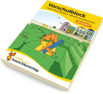 Vorschulblock - Logisches Denken, rätseln & knobeln ab 5 Jahre