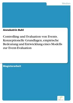 Controlling und Evaluation von Events. Konzeptionelle Grundlagen, empirische Bedeutung und Entwicklung eines Modells zur Event-Evaluation