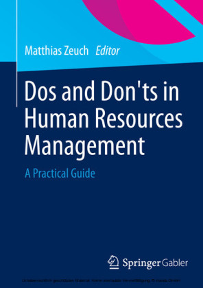 Dos and Don'ts in Human Resources Management