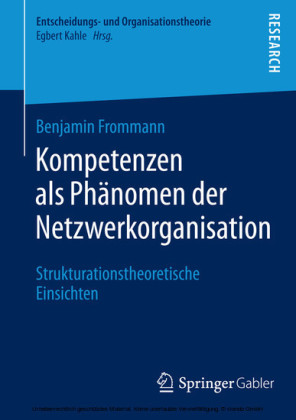 Kompetenzen als Phänomen der Netzwerkorganisation