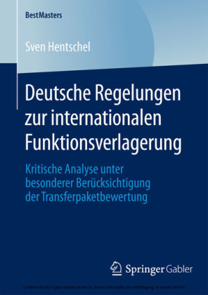 Deutsche Regelungen zur internationalen Funktionsverlagerung