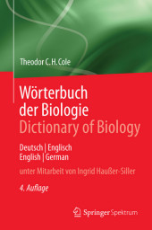 Wörterbuch der Biologie Dictionary of Biology