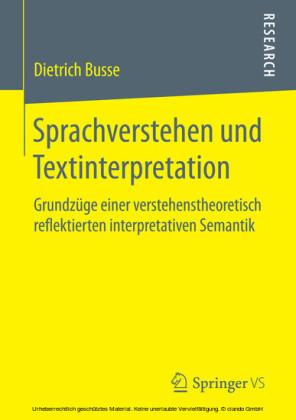 Sprachverstehen und Textinterpretation