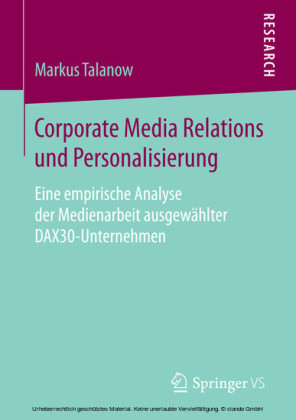 Corporate Media Relations und Personalisierung