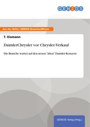 DaimlerChrysler vor Chrysler-Verkauf