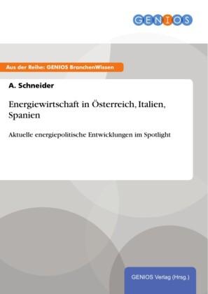 Energiewirtschaft in Österreich, Italien, Spanien