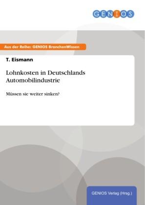 Lohnkosten in Deutschlands Automobilindustrie