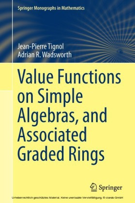 Value Functions on Simple Algebras, and Associated Graded Rings