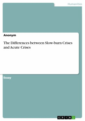 The Differences between Slow-burn Crises and Acute Crises