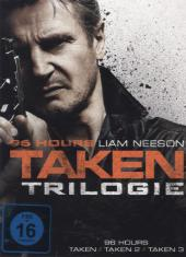 96 Hours - Taken 1-3, 3 DVD Cover