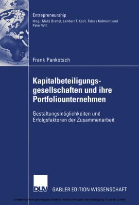 Kapitalbeteiligungsgesellschaften und ihre Portfoliounternehmen