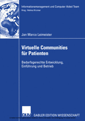 Virtuelle Communities für Patienten