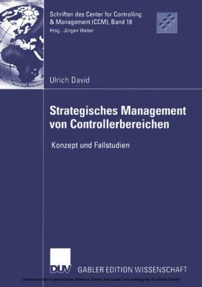 Strategisches Management von Controllerbereichen
