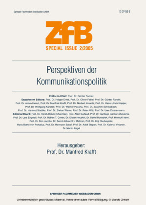 Perspektiven der Kommunikationspolitik