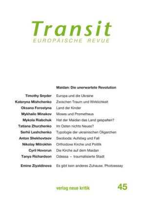 Transit 45. Europäische Revue